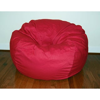 Wide Red Cotton Twill 36-inch Washable Bean Bag Chair