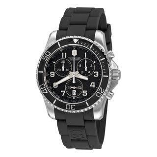 Swiss Army Men's 241431 'Maverick' Black Dial Black Rubber Strap Quartz Watch
