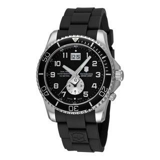 Swiss Army Men's 241440 'Maverick' Black Dial Black Rubber Strap Dual Time Watch