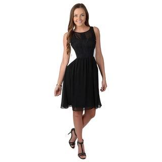 Vince Camuto Women's Lace Detail Colorblock Dress