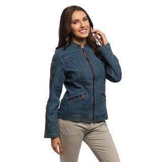Women's RS Indigo Laced Sleeve Denim Jacket