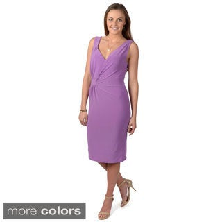 Journee Collection Women's Sleeveless Ruched Dress
