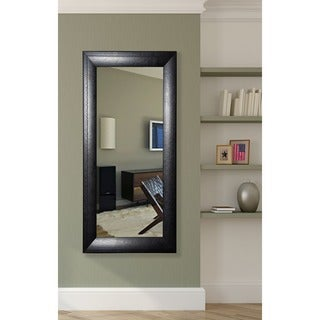 American Made Rayne Stitched Black Leather Tall Mirror