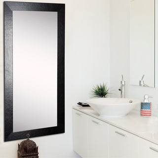 American Made Rayne Black Wide Leather Tall Mirror
