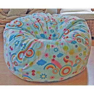 Rainbows Anti-Pill Fleece Washable Bean Bag Chair