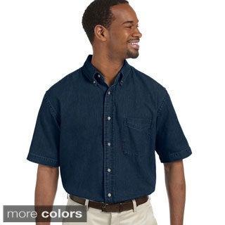 Men's Short Sleeve Denim Shirt