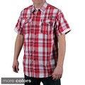 MO7 Men's Plaid Woven Short Sleeve Shirt
