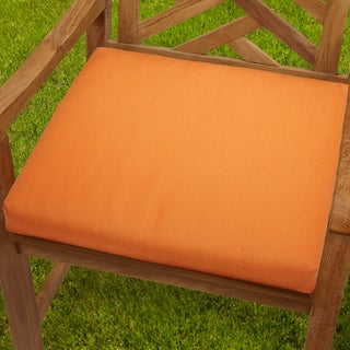 Bristol Tangerine Indoor/ outdoor 20-inch Chair Cushion with Sunbrella Fabric