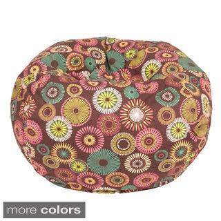 Starburst Pinwheel Pattern Medium Cotton Bean Bag Chair