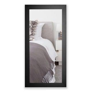 American Made Rayne Satin Black Wide Full Length Mirror