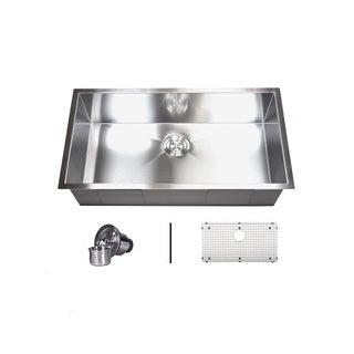 36' Single Bowl 16 Gauge Undermount Zero Radius Kitchen Sink Basket Strainer / Grid Accessories