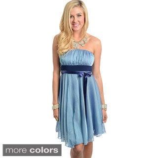 Feellib Women's Strapless Baby Doll Dress