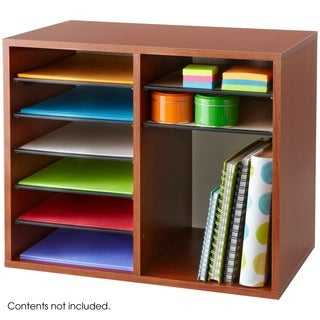 Safco Wood 12-compartment Adjustable Literature Organizer
