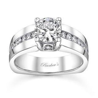 Barkev's Designer 14k White Gold 1 1/5ct TDW Diamond Engagement Ring (F-G, SI1-SI2)