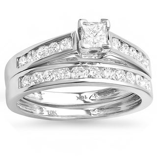 10k White Gold 4/5ct TDW Diamond Bridal Ring Set