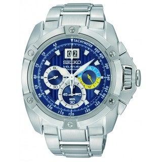 Seiko Men's 'Velatura' Stainless Steel Blue Dial Watch