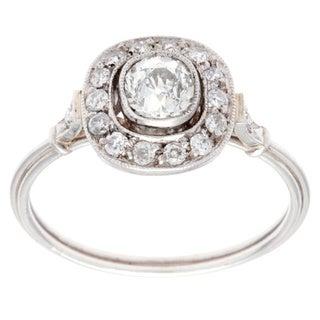 Pre-owned Platinum 3/5ct TDW Antique Estate Engagement Ring (H-I, SI3)
