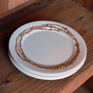 Cowboy Living Barbwire Melamine 9-inch Plates (Set of 4)