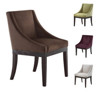 Monarch Velvet Solid Wood Legs Wingback Chair