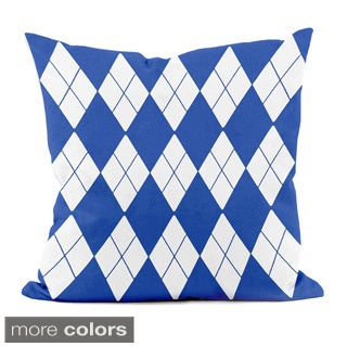 Bright Geometric Argyle 18x18-inch Decorative Pillow