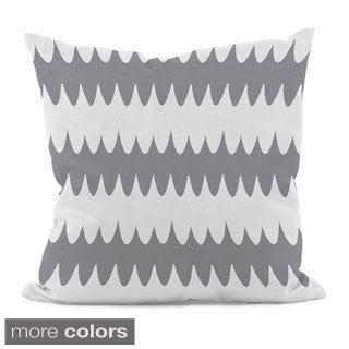 Bright Scalloped Stripe 18x18-inch Decorative Pillow