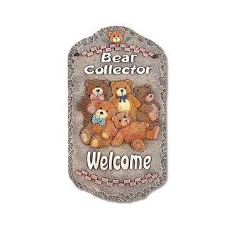 'Bear Collector' Resin Wall Art