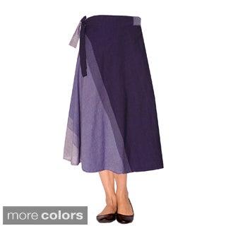 Women's Boho Cotton Wrap Skirt (Nepal)