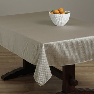 Prego Waffle-weave Silver/ ChocolateTablecloth