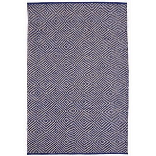 Hand-woven Blue Jute Rug (6' x 9')