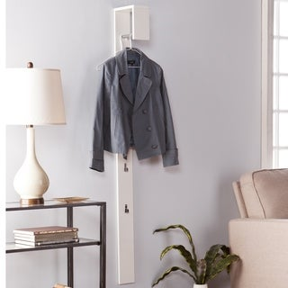 Upton Home Holmes Anywhere White Wall Mount Coat Tree