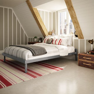 Amisco Attic Glossy Grey 54-inch Full-size Metal Bed