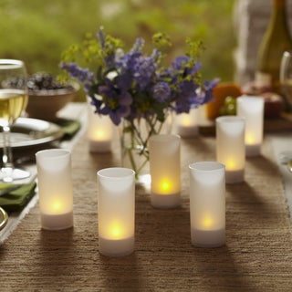 Order Home Collection 6-piece LED Tealight Glass Votive Holders