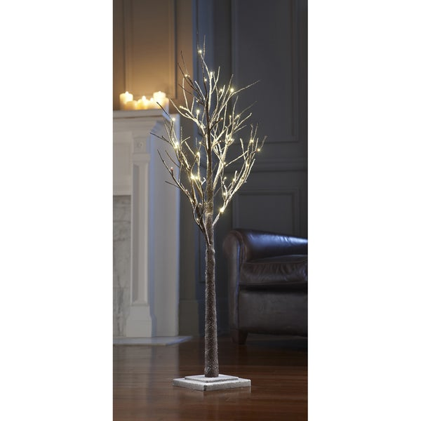 Order home collection decorative led 4ft snow tree for Order home decor online