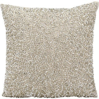 Michael Amini by Nourison Silver 18-inch Throw Pillow
