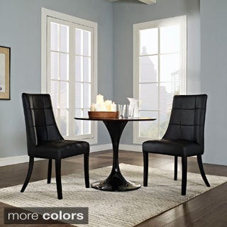Noblesse Vinyl Dining Side Chair (Set of 2)