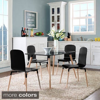 Stack Wood Dining Chairs (Set of 4)