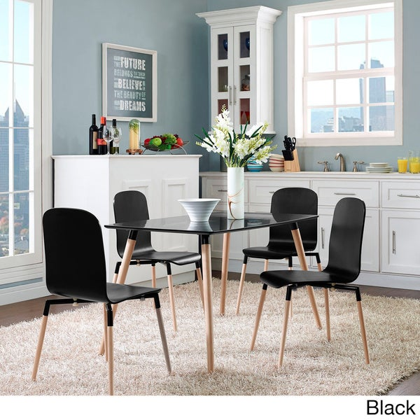 Stack Wood Dining Chairs Set Of 4 Overstock Shopping Great Deals On Modway Dining Chairs