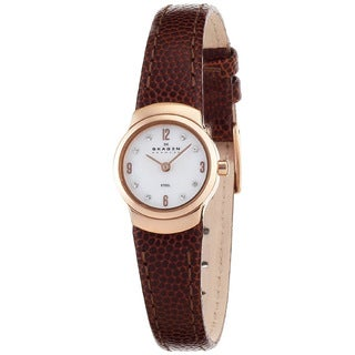 Skagen Women's Classic Brown Leather Watch