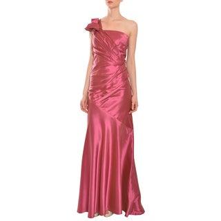 Carmen Marc Valvo Women's Raspberry One-shoulder Mermaid Style Evening Gown