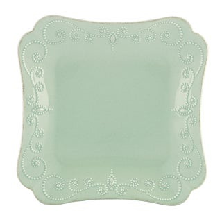 Lenox Ice Blue French Perle Square Dinner Plate