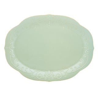 Lenox Ice Blue French Perle Oval Platter