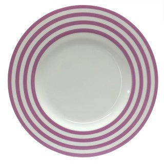 Red Vanilla Freshness Mix & Match Violet Lines 11.25-inch Dinner Plates (Set of 6)