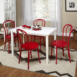 Simple Living Vintage Occasion Red/ White 5-piece Dining Set