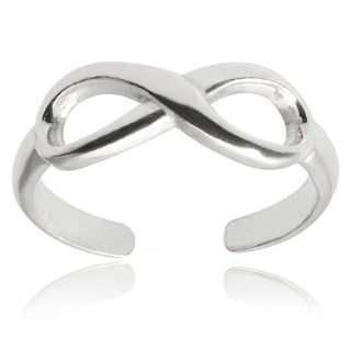 Journee Collection Sterling Silver Adjustable Infinity Toe Ring