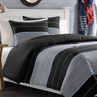 Nautica Danbury Stripe Cotton 3-piece Duvet Cover Set