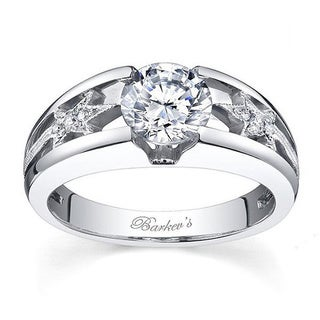 14k White Gold Barkev's Designer 1 1/10ct TDW White Diamond Engagement Ring (F-G, SI1-SI2)
