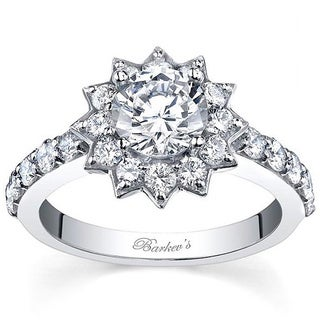 Barkev's Designer 14k White Gold 2.10ct TDW Diamond Ring (F-G, SI1-SI2)