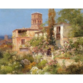 Garden in South France' Oil on Canvas Art