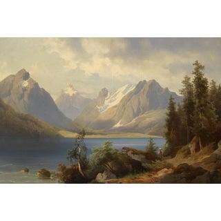 Josef Thoma 'Mountain Landscape' Oil on Canvas Art