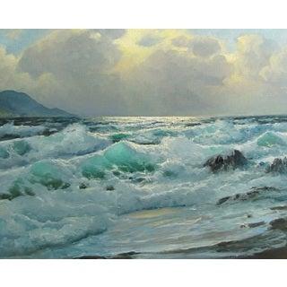 The Ocean Wave' Oil on Canvas Art